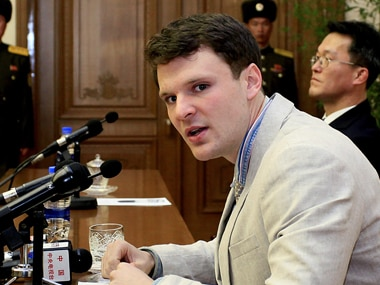 Otto during the trial in North Korea. AP
