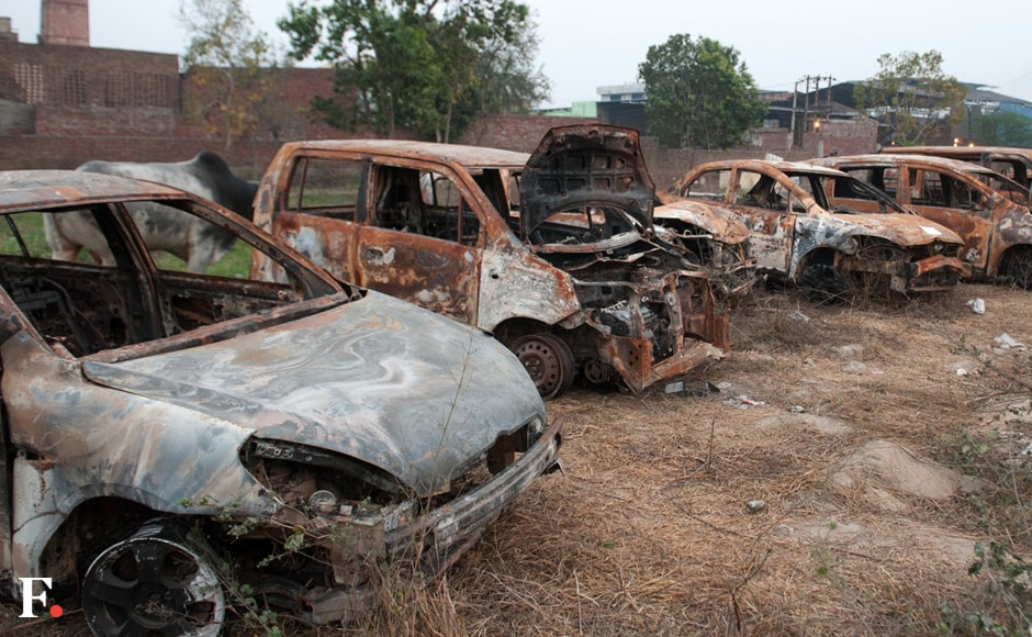 Protesters destroyed private and public property in several districts in Haryana. Naresh Sharma/Firstpost
