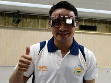 Jitu Rai at ISSF World Cup in Bangkok. Image source: Twitter