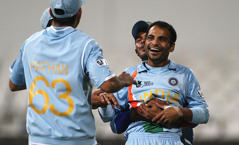 Joginder Sharma during India's successful 2007 World T20 campaign. Getty