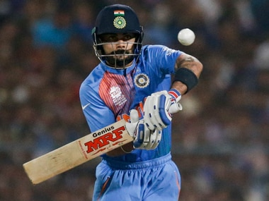 When faced with pressure, Virat Kohli runs to keep scoreboard ticking and slowly build up the innings. AP