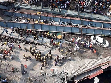 Under-construction Vivekananda flyover collapsed in Kolkata. PTI