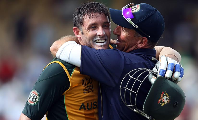 Match-winner Mike Hussey. Getty