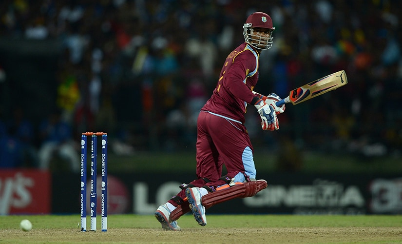 Marlon Samuels (above) stepped up the occasion when Chris Gayle failed. Getty Images