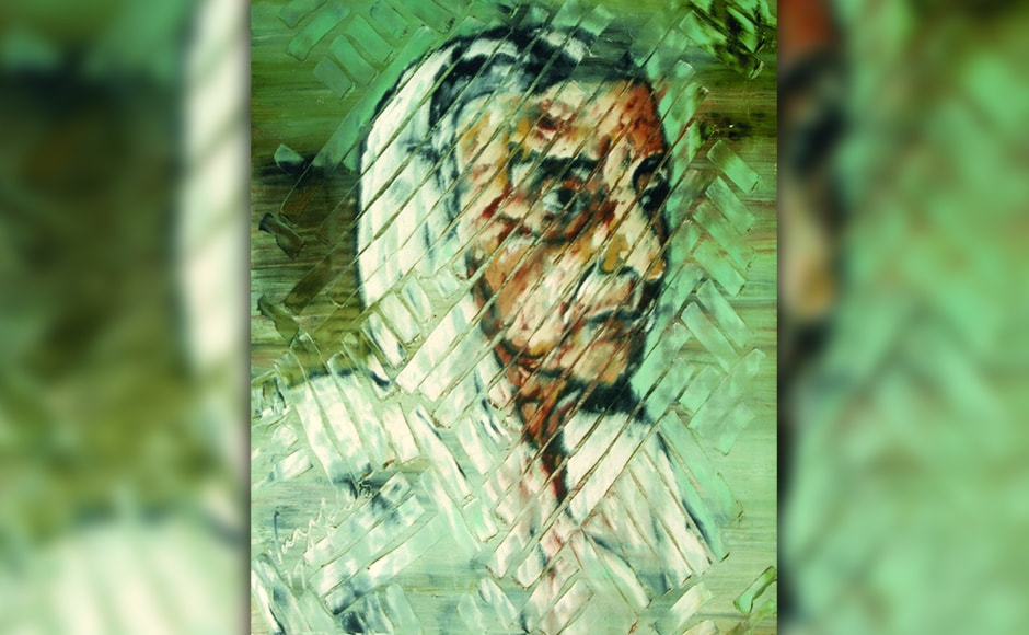 """'Meherbai Vazifdar, the artist's mother, 1979, oil on canvas.' The late Abby Grey, a well known art collector and founder of NYU's fine arts museum, considered Vazifdar """"by far the most astonishing artist"""" she had met during her trips to India. While she was travelling across Iran, Pakistan and India and collecting art, Vazifdar met Grey in 1965 and reportedly told her, """"Others paint to make a living, I don't have any such requirement. I refuse to sell my art at a cheap rate. It is not for sale!"""""""