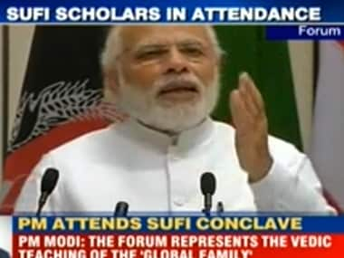 PMModi at the World Sufi Forum in New Delhi on Thursday. India Today