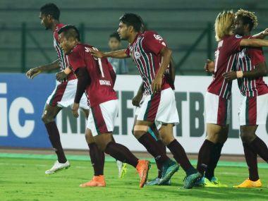 File photo of Mohun Bagan players celebrating. Image courtesy - Mohun Bagan Twitter