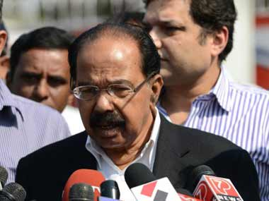 Veerappa Moily. File photo. AFP