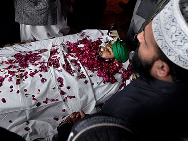 Mumtaz Qadri was hanged last month. AP