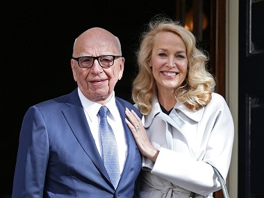 Fourth time plucky: Rupert Murdoch marries Jerry Hall
