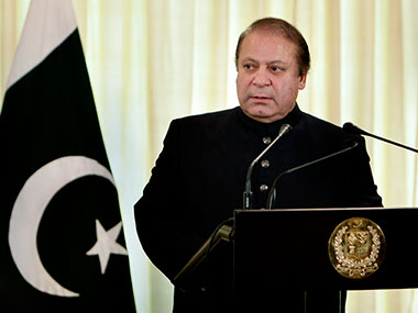File photo of Pakistan's PM Nawaz Sharif. AP