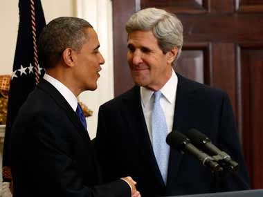 US President Barack Obama and Secretary of State John Kerry. Reuters