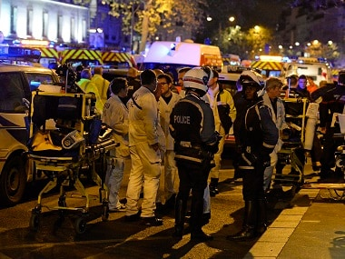 File photo of the scene outside the Bataclan after the attack. AFP