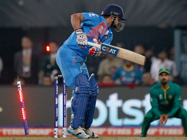 Suresh Raina's average of 10.25 and 41 runs in this World T20 can be easily bettered by even Harbhajan Singh. AP