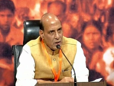Home Minister Rajnath Singh briefed reporters about the Prime Minister's address. ANI