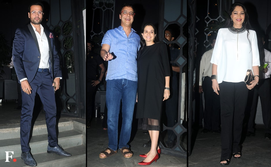 Among the other noteworthy guests at the bash were Simi Garewal, and Vidhu Vinod Chopra with Anupama Chopra. Image by Sachin Gokhale/Firstpost