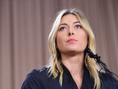 Maria Sharapova at the press conference in Los Angeles. Reuters