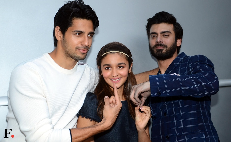 <em>Kapoor and Sons</em> stars Sidharth Malhotra, Alia Bhatt and Fawad Khan being their goofy selves. Sachin Gokhale/Firstpost