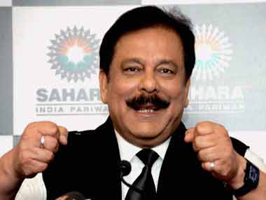 File image of Sahara group head Subrata Roy. PTI