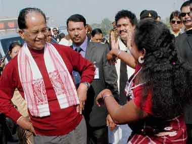 A file image of Assam Chief Minister Tarun Gogoi. PTI