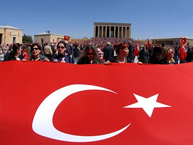 The Turkish flag. Getty