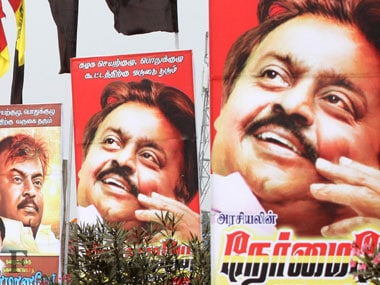 Posters of Vijayakant in TN. Firstpost