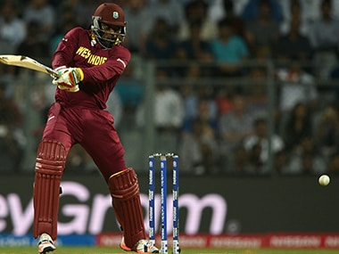 Chris Gayle was in murderous mood at the Wankhede against England. AFP