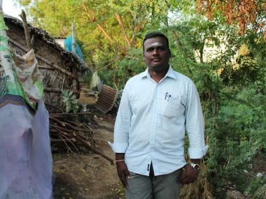 26-year-old Rajamurugan is angry at being constantly picked up by cops for no fault of his. Firstpost/Sandhya Ravishankar