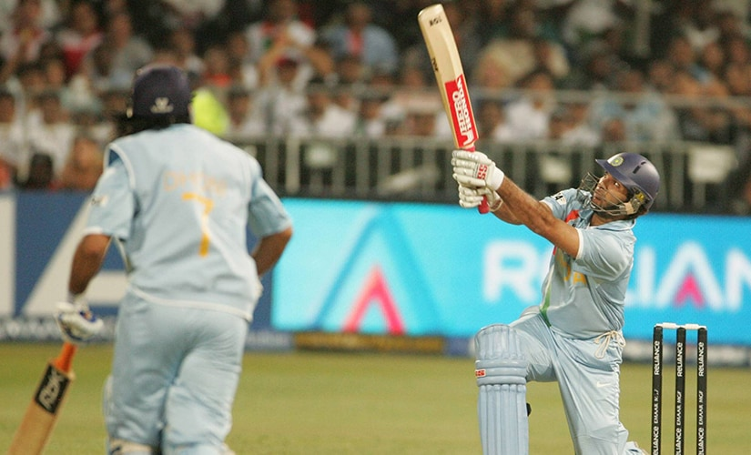 Yuvraj Singh launched a savage attack on Stuart Broad, smashing six sixes in an over. Getty Images
