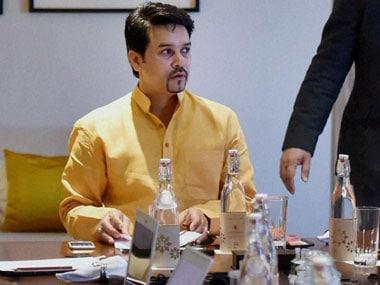 File photo of Anurag Thakur. PTI