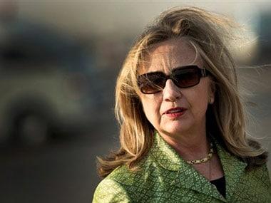 Democrat front-runner Hillary Clinton. AP