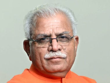 Haryana Chief Minister Manohar Lal Khattar. Image taken from Facebook page of Manohar Lal Khattar