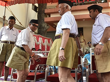 RSS swayamsevaks with lathis, walrus moustaches on border: 'General' Mohan Bhagwat's idea is a win-win