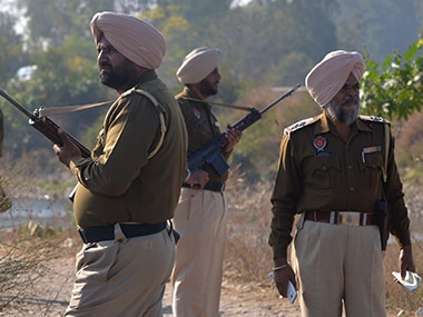 A file image of security forces on guard near the Pathankot airbase. AFP