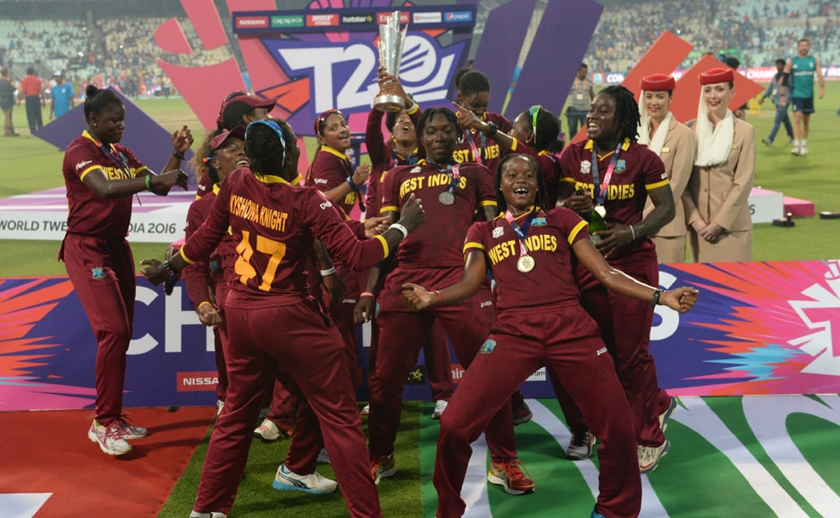 Just like the men, the West Indies women's team brought out their flamboyant brand of celebration after beating three-time champions Australia to win their maiden World T20. AFP