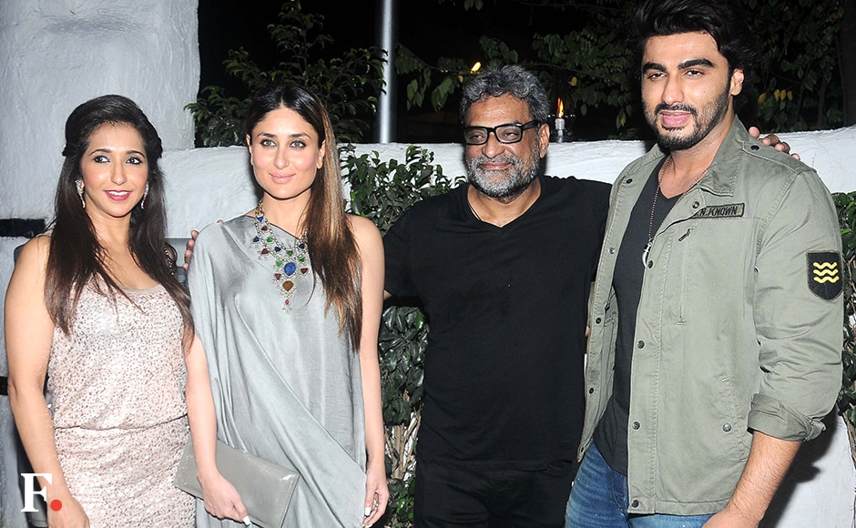 Krishika Lulla, Kareena Kapoor, R. Balki & Arjun Kapoor at the success party of Ki & Ka. Sachin Gokhale/Firstpost