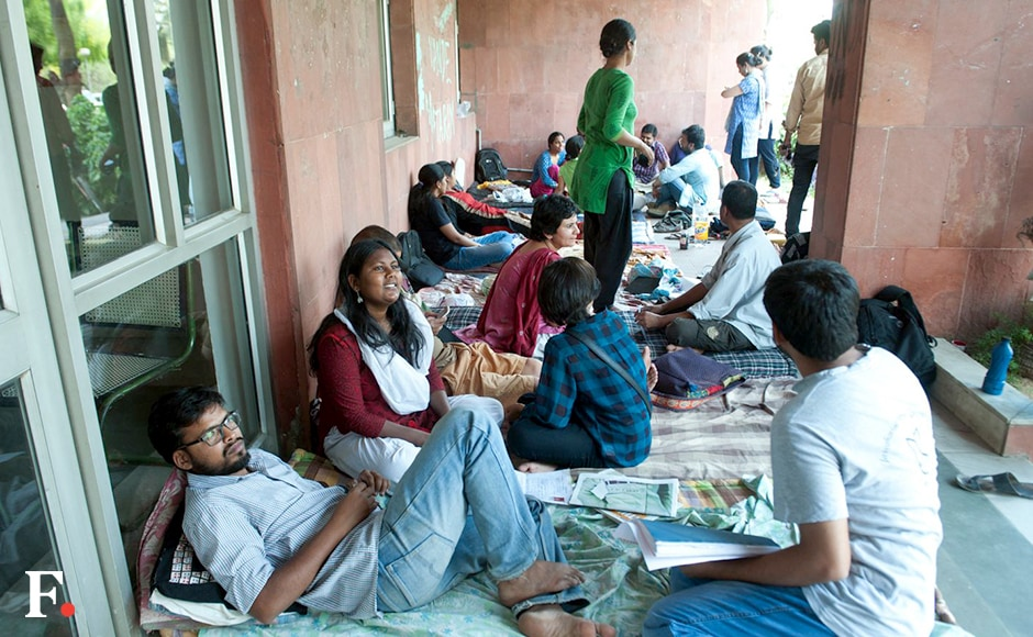"""""""We had no faith in the probe committee. The inquiry was a sham and students have rejected it in our general body meeting. We will not abide by the punishment given to us,"""" JNUSU General Secretary Rama Naga said. Naresh Sharma/Firstpost"""