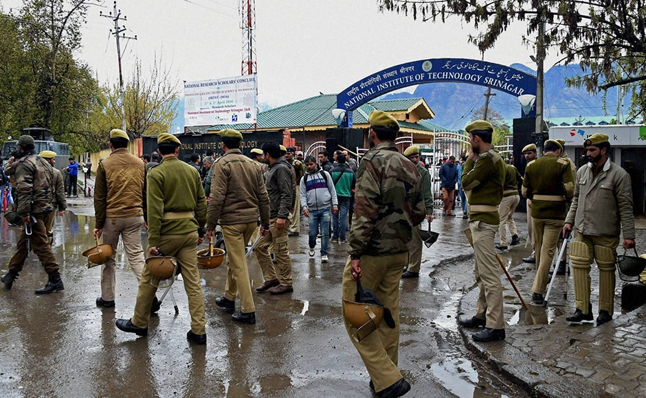 Police and CRPF personnel were deployed at the institute following tensions at the campus. PTI