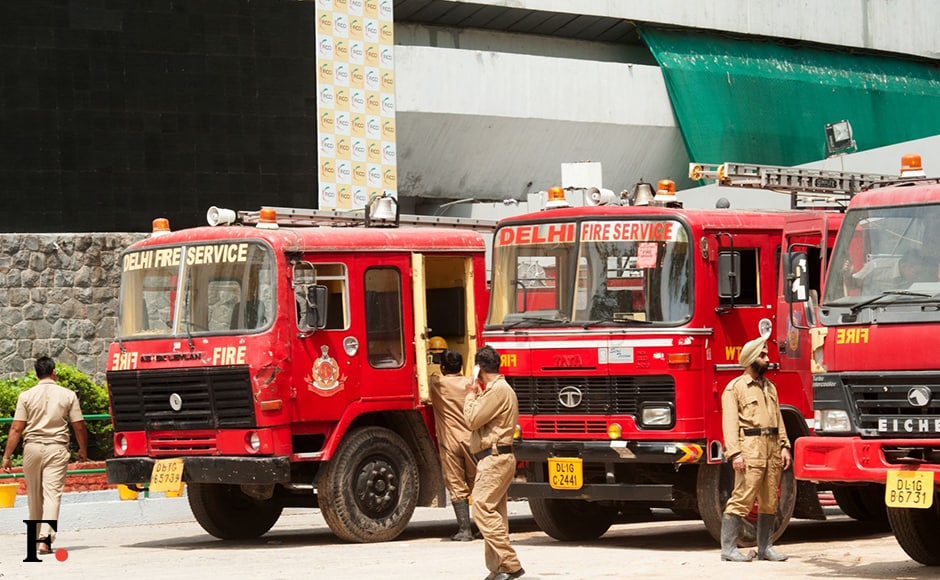 Six fire officials were rushed to hospital after they inhaled excessive smoke. Their condition is said to be stable, according to officials. Naresh Sharma/Firstpost
