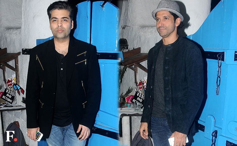 Karan Johar & Farhan Akhtar Sachin Gokhale/firstpost
