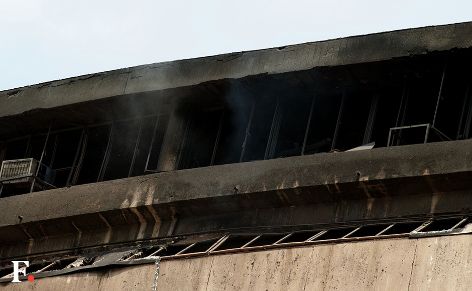 Fire gutted the building of National Museum of Natural History Naresh Sharma/Firstpost