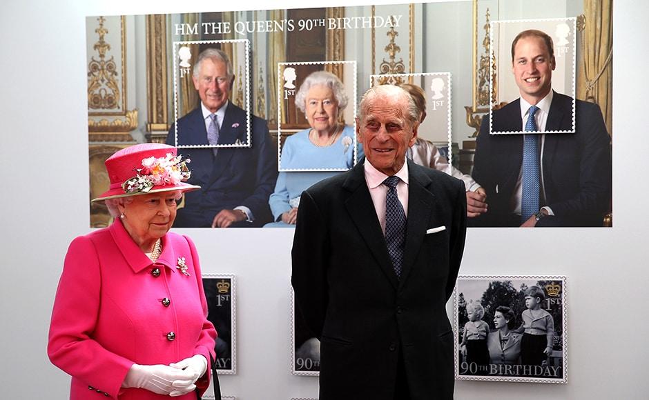 Queen Elizabeth II and Prince Philip, Duke of Edinburgh at the Queen Elizabeth II delivery office in Windsor at the 500th Anniversary of the Royal Mail delivery service. Reuters