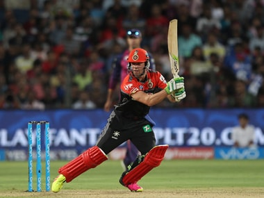 AB de Villiers of Royal Challengers Bangalore during the match against Rising Pune Supergiants. BCCI