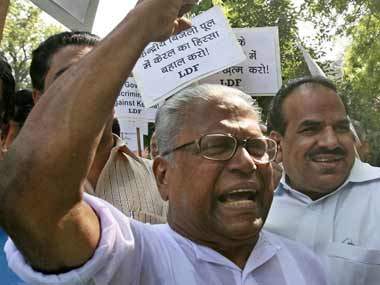 Veteran CPM leader VS Achuthanandan. AFP