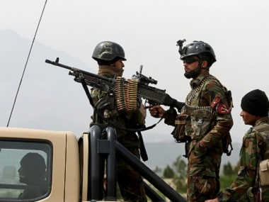 File photo of Afghan military soldiers standing guard. Representational image. AP