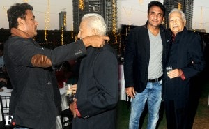 In these photos, Ajinkya Deo is seen with Ramesh Deo.<br />Image by Sachin Gokhale/Firstpost