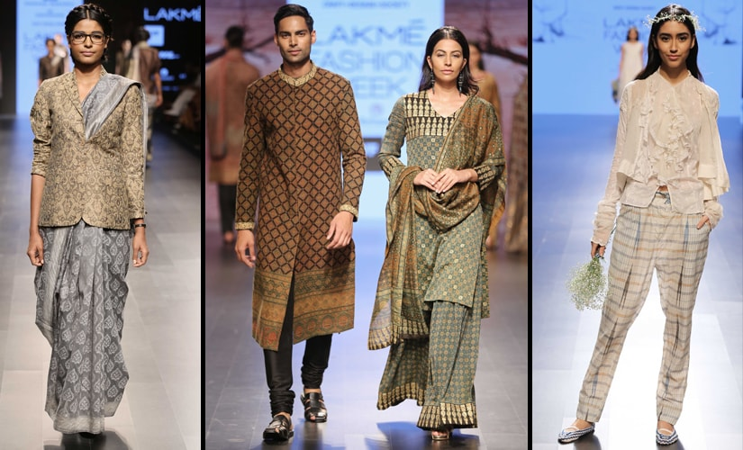 (L-R) Designs by Asif Shaikh, Hemang Agrawal, and Pero by Aneeth Arora