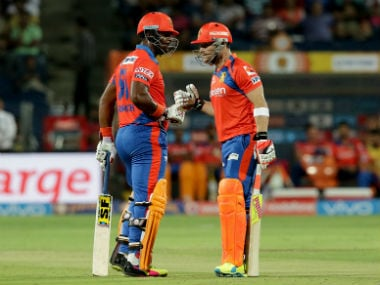 Dwayne Smith (left) and Brendon McCullum. Sportzpics
