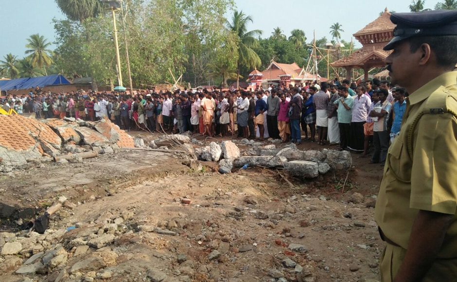 The temple structure has been reduced to rubbles after the explosion. As of 2:30 in the afternoon, the death toll totaled to 110 people. At around 3.30 am, there was a massive explosion followed by tremors which were felt even a kilometre away from the 100-year-old Puttingal Devi temple near Kollam.