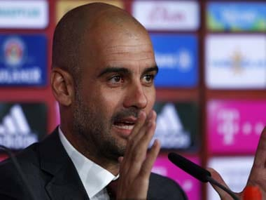 Manchester City coach Pep Guardiola. Reuters